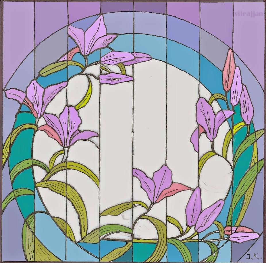 návrh vitráže