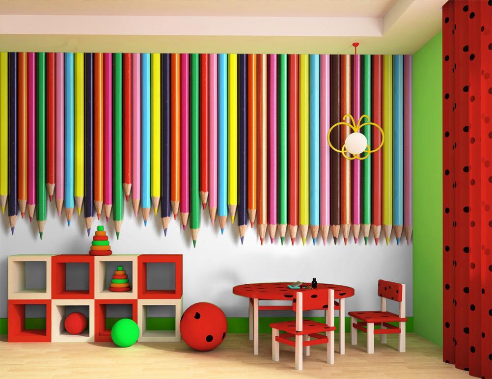Atelier tatababa rinnovare la camera di un bimbo le pareti for Carta da parati cameretta bimba