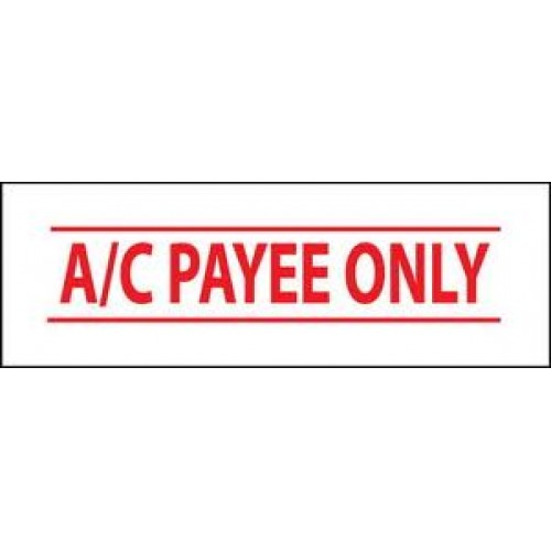 crossed account payee cheque