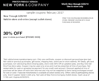 New York And Company coupons for february 2017