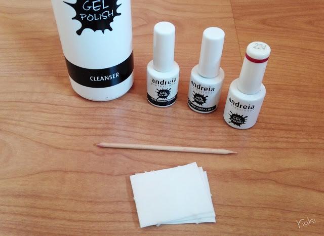 cleanser, Andreia Professional, top coat, base coat, 224, compressas de celulose, pau de laranjeira