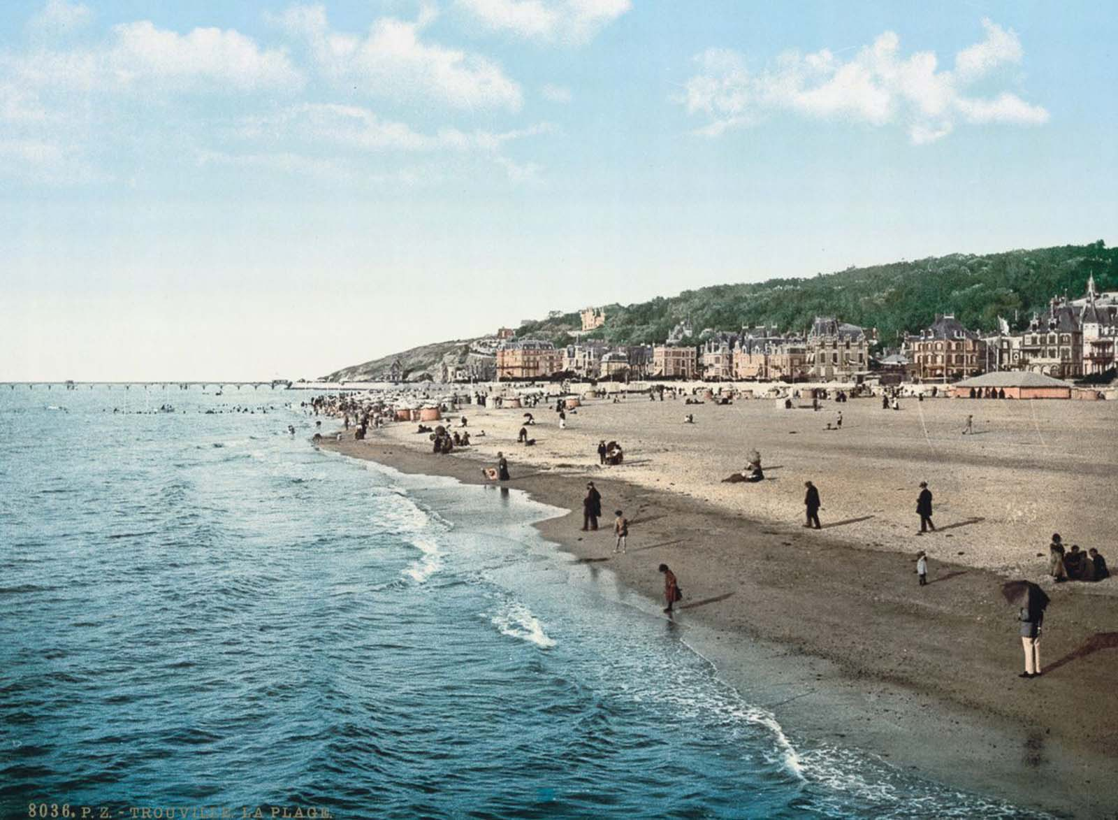 Trouville beach.