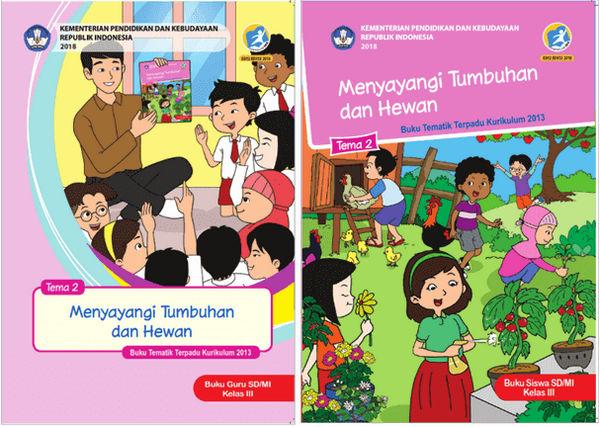 Buku Kelas 3 Kurikulum 2013 Revisi 2018 Tema 2 Menyayangi Tumbuhan