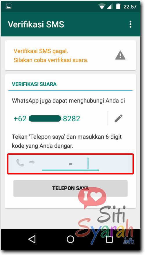 cara mengganti nomor akun whatsapp android