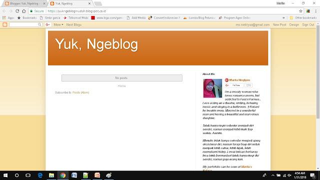 cara mudah membuat blog di blogspot blog sudah jadi
