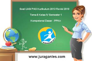 Contoh Soal UAS/ PAS Tema 5 PPKn Kelas 4 Semester 1 Kurikulum 2013
