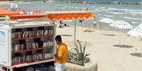 Biblioteca balneare sulle spiagge della Sardegna