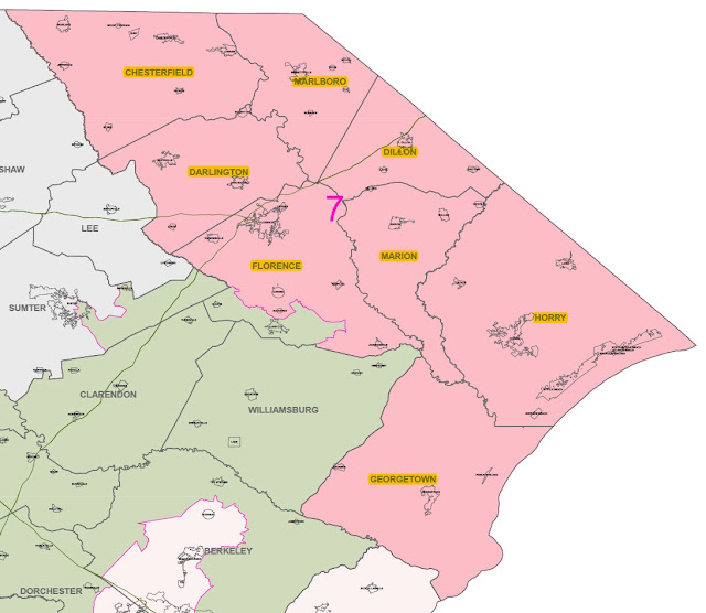 SC 7th Congressional District Map