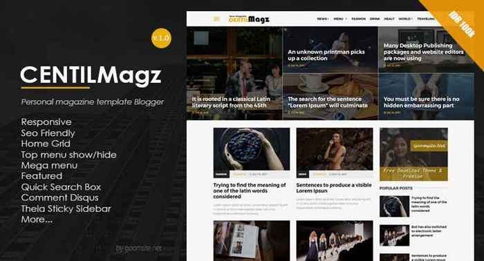 Centilmagz Responsive Blogger Template