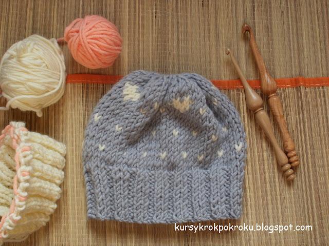 Czapki na drutach - DIY