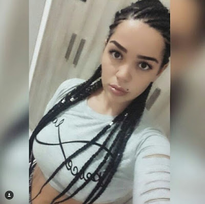 """Photos: """"Now you can stay with me forever"""" Beautiful girlfriend of Nigerian student murdered in Cyprus tattooes his name on her arm and finger"""