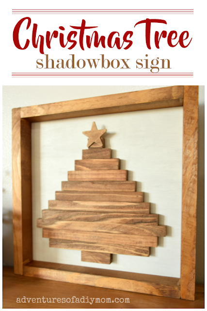Christmas tree shadowbox sign