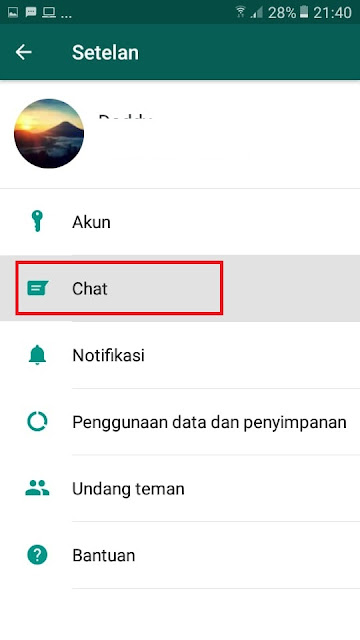 Tutorial Cara Mengganti Background Whatsapp 2