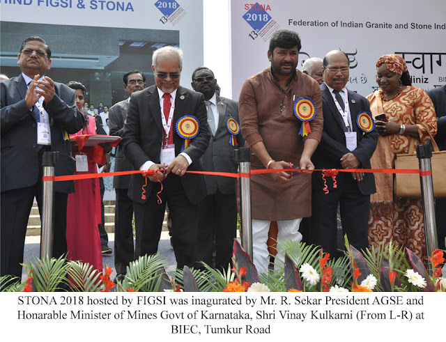 Federation of Indian Granite and Stone Industry (FIGSI) inaugurates STONA 2018 February 7th 2018