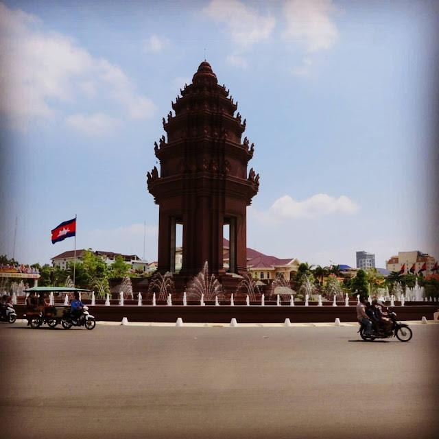 Cambodian Independence Monument in Phnom Penh