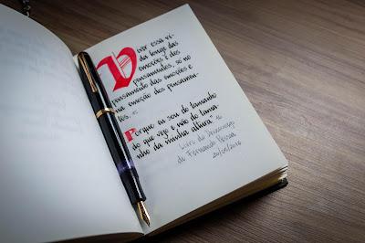 """Porque eu sou do tamanho do que eu vejo e não do tamanho da minha altura""""     (Livro do Desassossego by Fernando Pessoa)"""