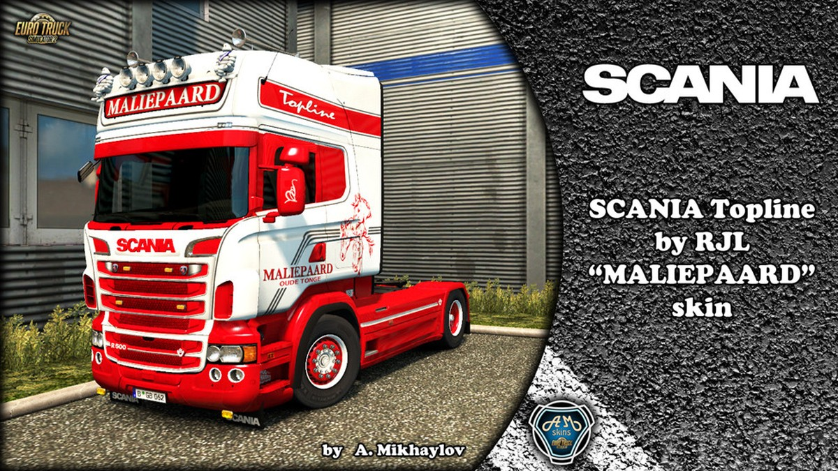 Maliepaard Skin, Lightbox & Wheels for Scania RJL