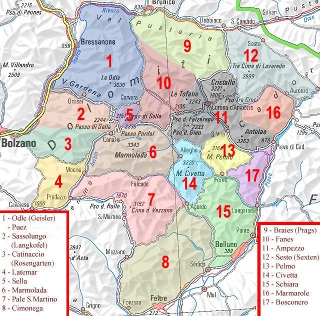 dolomitas italia mapa espeleogel.com: FERRATAS POR DOLOMITAS (ITALIA) dolomitas italia mapa