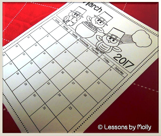 This free 2017/2018 children's calendar includes a printable calendar page for every month of the year.  It is designed for young children to use as they learn basic calendar concepts such as the days of the week and the months of the year.  Each date within a month has its own space with a numeral clearly printed inside the space.  Cute owls are involved in fun seasonal or holiday activities for each month of the year making it an engaging collection for children to practice calendar skills.