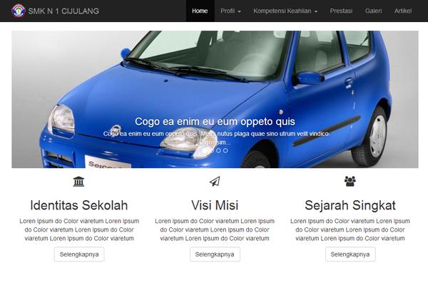 Contoh Desain Website Sekolah