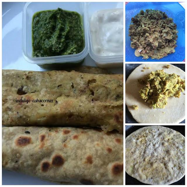 Shammi Kebab Parathe-- Kale Chane Ke Parathe