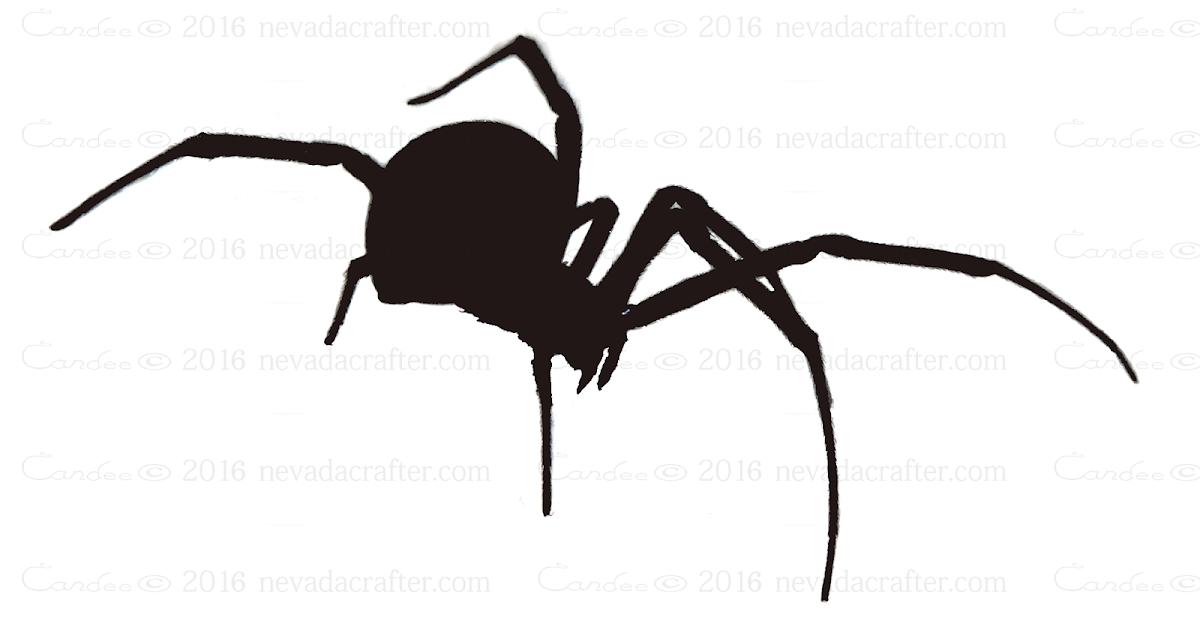 Free Patterns And Ideas Black Widow Spider Silhouette