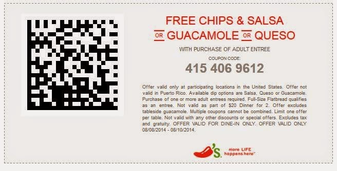 picture about Chili Printable Coupons named chilis coupon code may possibly 2015