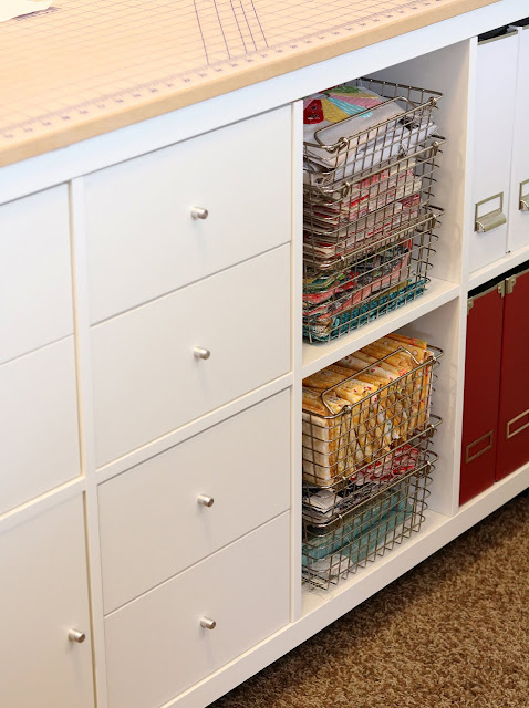 Tips for storing and organizing all of your quilting projects - from A Bright Corner