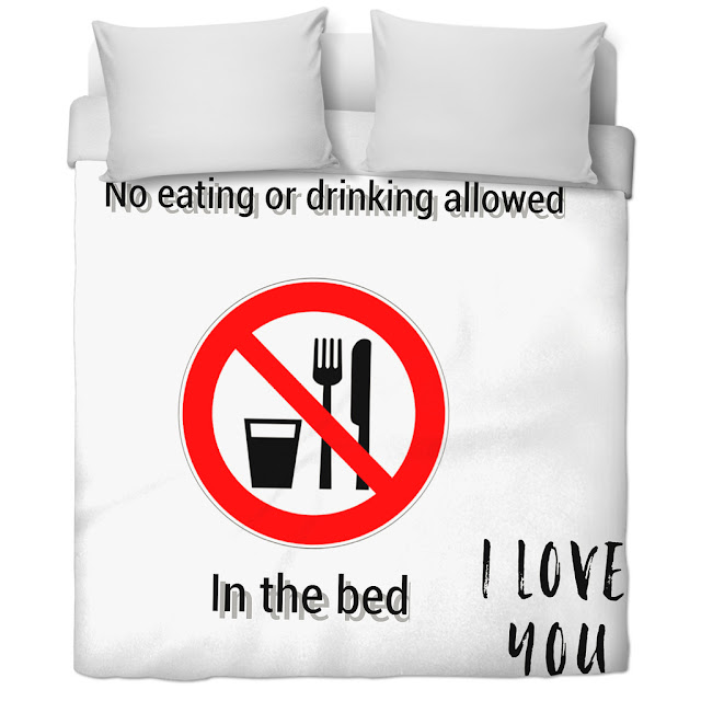 avoid eating in bed