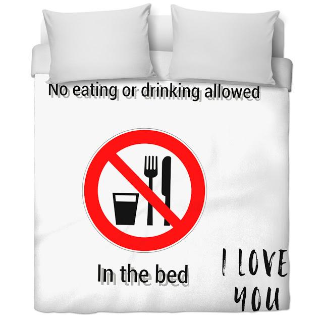 avoid eating in bed