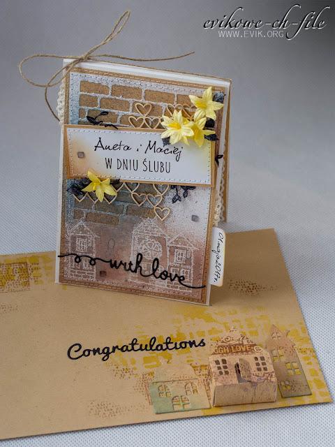 Magnolia DooHickey Cutting Dies - Little House, Evik, wedding card, kartka ślubna, rękodzieło, praca z papieru