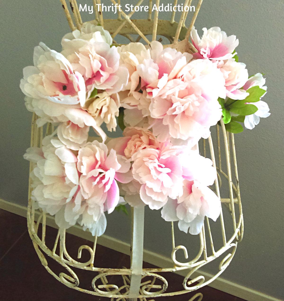repurposed blooming dress form