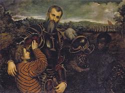 renaissance paintings europe africans 16th bordone paris surprised 1500 african 1600 italian portrait portraits artwork slaves oil painter armor human