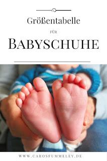 Babysocken und Schuhe in der richtigen Größe stricken – Tabelle mit Schuhgrößen und Zentimeter-Angaben