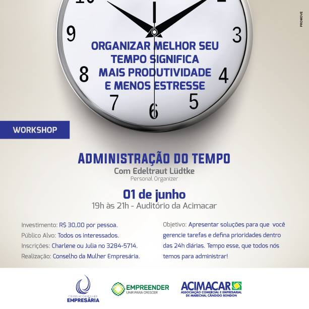 Workshop sobre Administração do Tempo