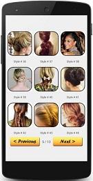 Hairstyle tutorial aplikasi berisi berbagai gaya dikepang 835aa6a608