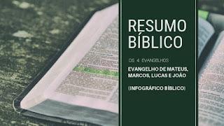 Resumo Bíblico - Os 4 Evangelhos - Infográfico Bíblico