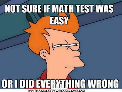 Math test was easy
