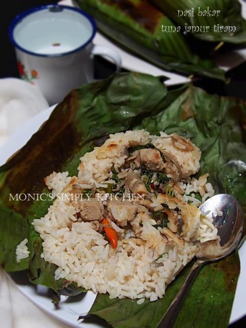 resep nasi bakar tuna jamur tiram