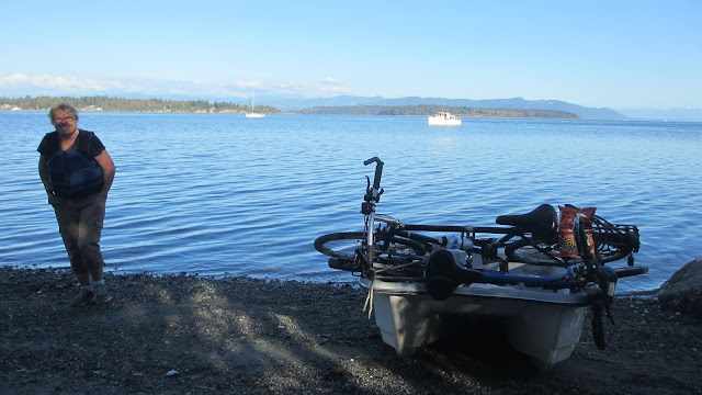 Lummi Island beach Dinghy access