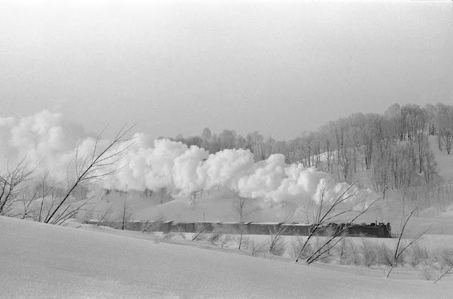 昭和49年1月、厳寒の恵比島峠