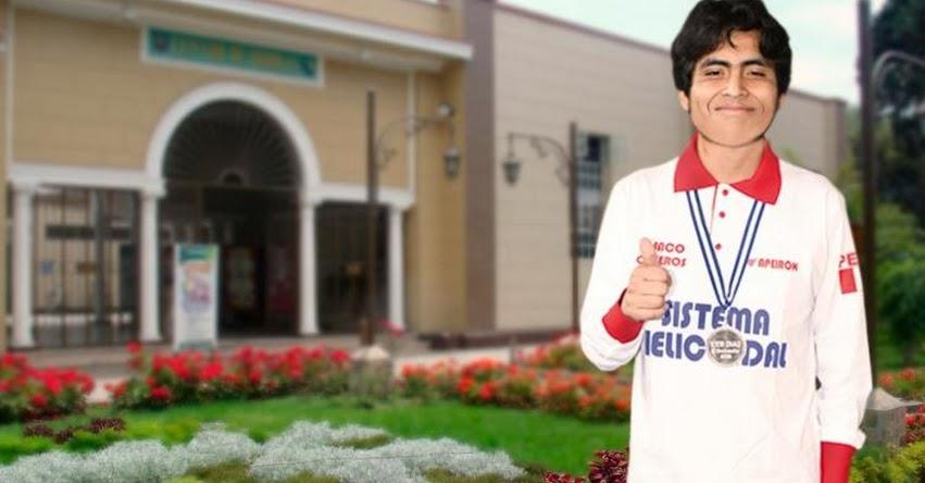 BRUNO DÍAZ YAIPÉN: Subcampeón de química ingresa en primer puesto a universidad La Molina