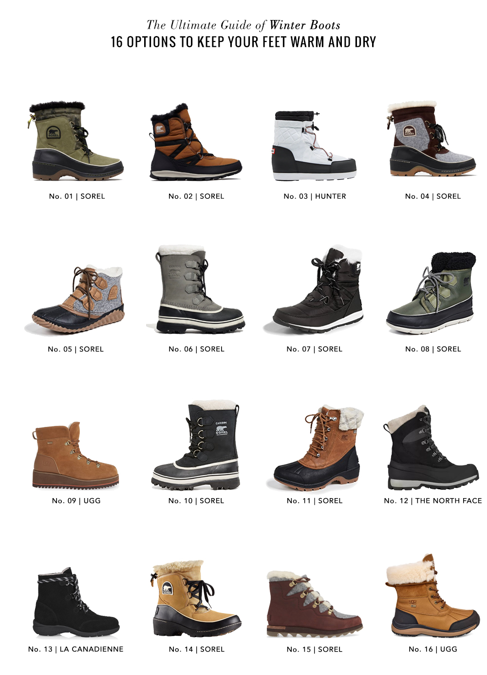 Shopping File: 16 Winter Boots to Keep Your Feet Warm and Dry