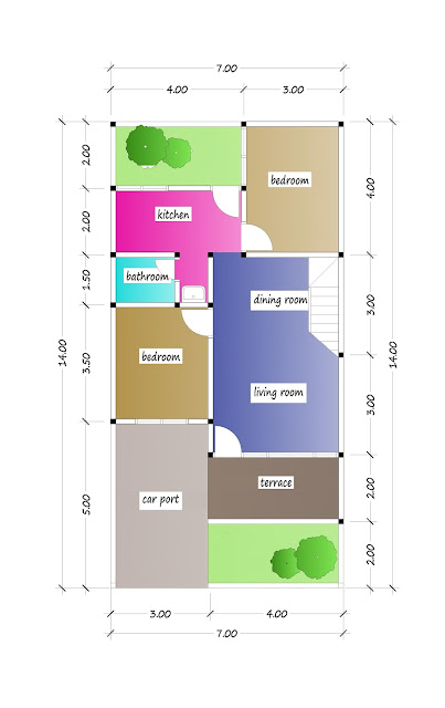 1st floor plan of beautiful house plan 23