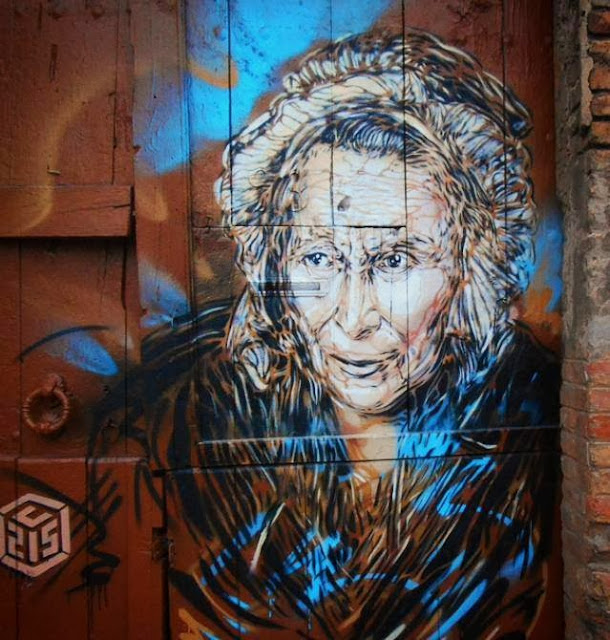Parisian Stencil Artist C215 returns to Barcelona with a new series of Street Art Pieces. 5