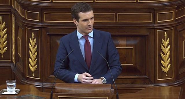 Pablo Casado insiste en aplicar el 155 otra vez en Catalunya