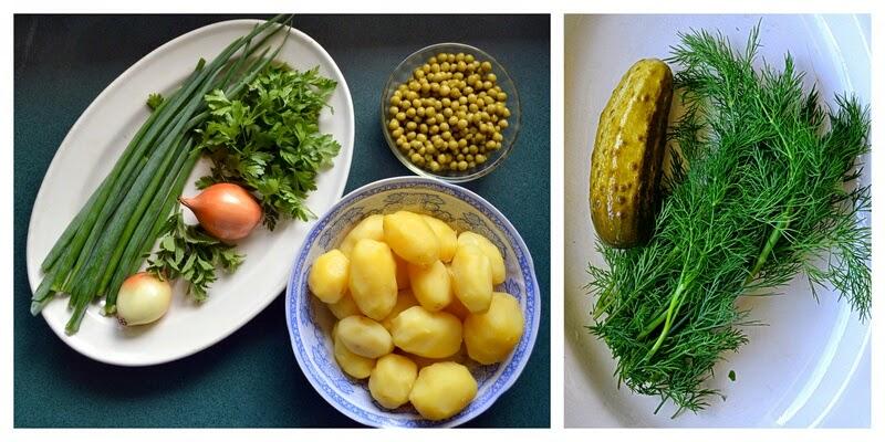 szaszlyki, salatka z ziemniakow, salatka do grilla, salatka z mlodych ziemniakow, ogorki malosolne, grill, danie z grilla, rozpalamy grill, blog, weekend, zycie od kuchni