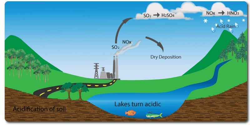 the process of acid rain production Chemistry of acid deposition acid rain is a popular expression for the more scientific term acid deposition, which refers to the many ways in which acidity can move from the atmosphere to earth's surface.