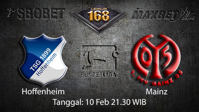 PREDIKSIBOLA - PREDIKSI TARUHAN BOLA HOFFENHEIM VS MAINZ 10 FEBRUARY 2018 (BUNDESLIGA)