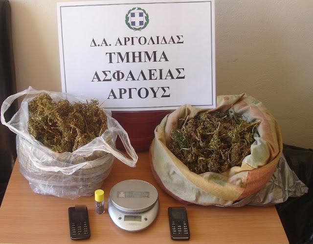 Σύλληψη 62χρονου στο Άργος με ένα κιλό περίπου χασις